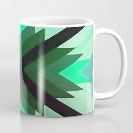 Navaho Vibes Geometric Pattern - Black Pine Aqua Coffee Mug
