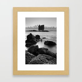 Seascape with islets Framed Art Print