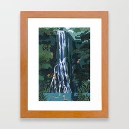 Waterfall stop Framed Art Print