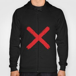 Red X on white background. #society6 #decor #buyart #artprint Hoody