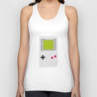 gameboy Tank Tops featuring #54 Gameboy by MNML Thing