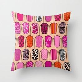 Nails Throw Pillow