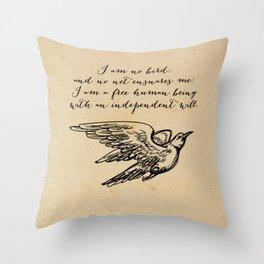 Jane Eyre - No bird - Bronte Throw Pillow