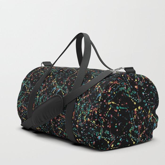 Splat Color Black R Duffle Bag
