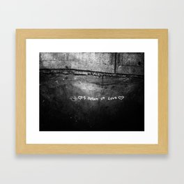 New York City I Dream of Love Framed Art Print