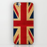 union jack iPhone & iPod Skins featuring Union Jack by NicoWriter