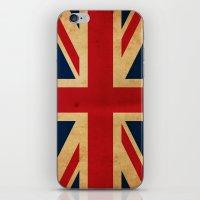 union jack iPhone & iPod Skins featuring Union Jack by NicoWriter
