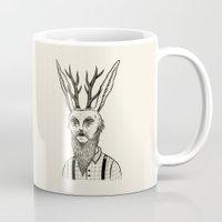 jackalope Mugs featuring Jackalope by Jon MacNair
