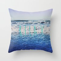 relax Throw Pillows featuring Relax by Leah Flores