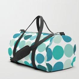 Midcentury Modern Dots Blue Duffle Bag