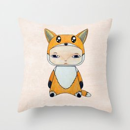A Boy - Fox Throw Pillow