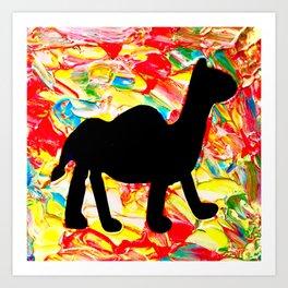 Mushy Camel Vibes Art Print