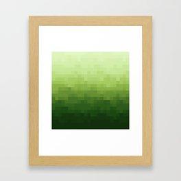 Gradient Pixel Green Framed Art Print