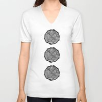 tree rings V-neck T-shirts featuring Growing Old - Tree Rings by Courtnduncan