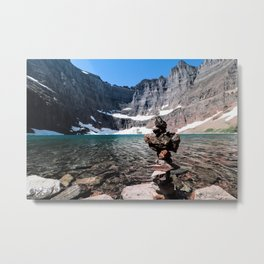 Glacier lake Metal Print