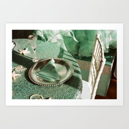 Shooting a wedding Art Print