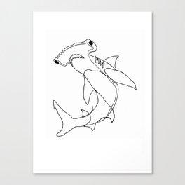 Hammerhead Shark (white) Canvas Print