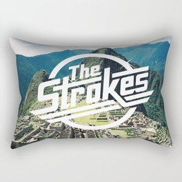 The Strokes Logo Machu Picchu Rectangular Pillow