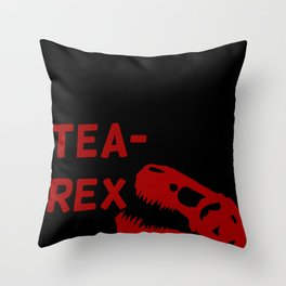 Tea-Rex Throw Pillow
