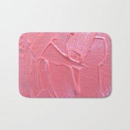 Pink Paint Texture Painting Bath Mat