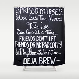 Coffeeology Shower Curtain
