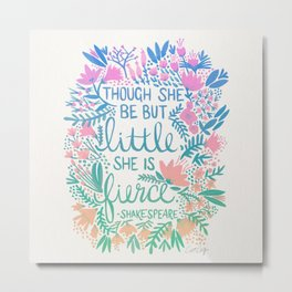 Little & Fierce – Lavender Mint Ombré Metal Print