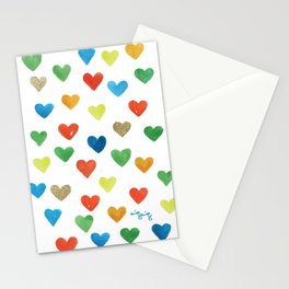 some more hearts Stationery Cards