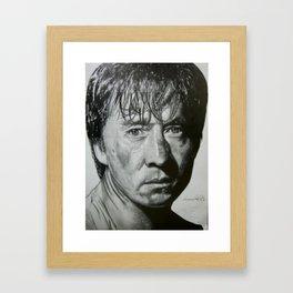 Jackie Chan Portrait Framed Art Print