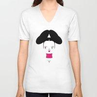 bjork V-neck T-shirts featuring Bjork by Marco Recuero