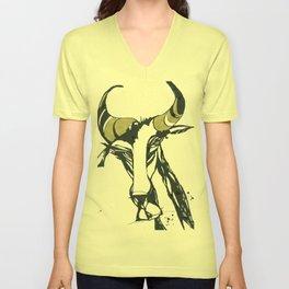 Golden Horn Goat Unisex V-Neck
