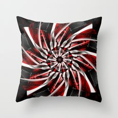 Blossom silver red 2 Throw Pillow