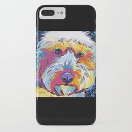 Goldendoodle or Labradoodle Pop Art Dog Portrait iPhone Case
