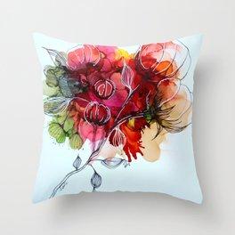Fleurs de coton Throw Pillow
