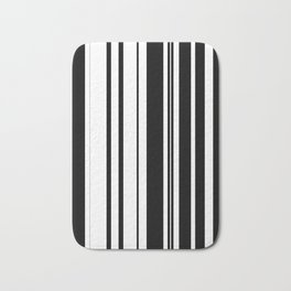Black and white stripes 1 Bath Mat