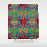 baroque Shower Curtains featuring baroque pop by Matthias Hennig