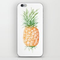 pinapple iPhone & iPod Skins featuring Pinapple illustration by Illustree