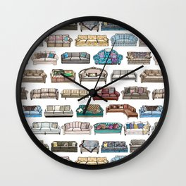TV Couches Wall Clock