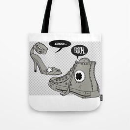 Talking Shoes  Tote Bag