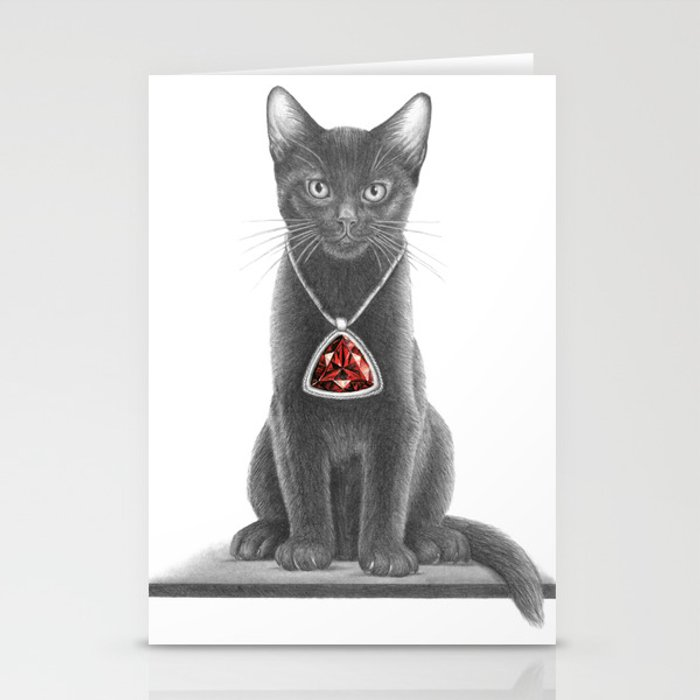 Kitten with Pendant Stationery Cards
