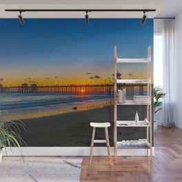 Sunset Under the Pier Wall Mural