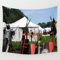 camp Wall Tapestries featuring Medival Camp by Littlebell