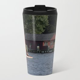Boating on the Connecticut River Metal Travel Mug