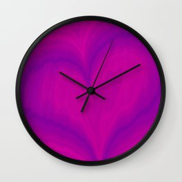 Valentine's Day Purple Violet Heart Pattern Wall Clock