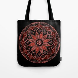 Autumn Fall Mandala Spirograph Art Pattern Design Rosette Tote Bag