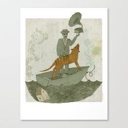 Harmonious Life (With Thylacine) Canvas Print