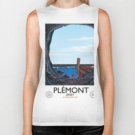 Plémont Jersey cave travel poster Biker Tank