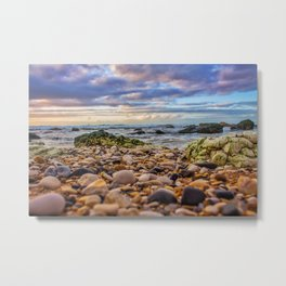 Low pebbles, smooth tide Metal Print