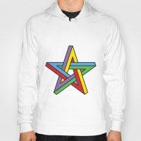 pentagram Hoodies featuring Impossible Pentagram by Stephen Kemmy Graphic Designer