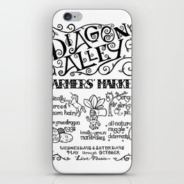 Diagon Alley Farmers' Market iPhone Skin