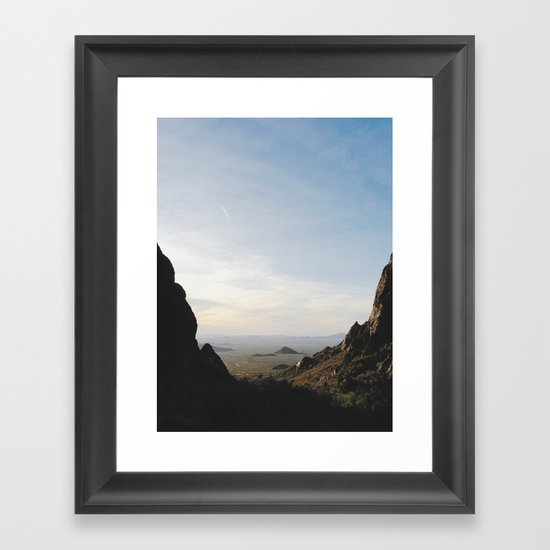 Palm Sunset Canyon Framed Art Print